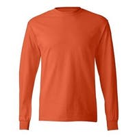 Tagless Long Sleeve T-Shirt - Orange - M