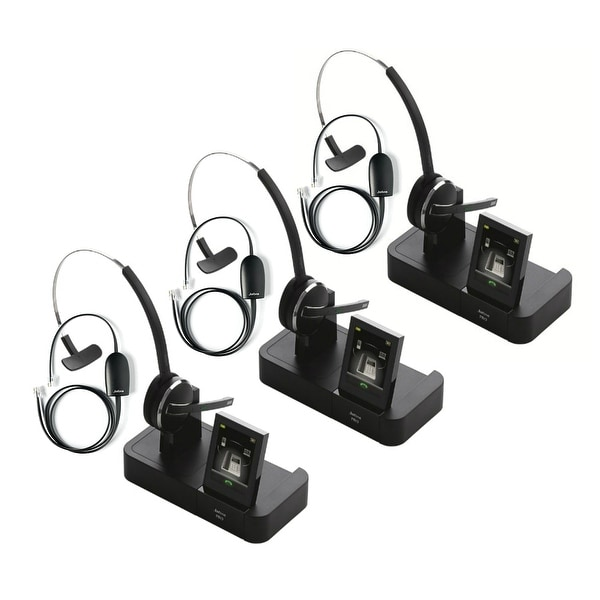 1e643921535 Jabra PRO 9470 with 14201-17 EHS for Polycom (3 Pack) Wireless Bluetooth