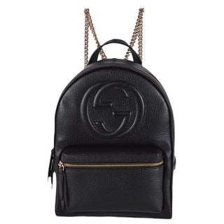 cf117f3d539 Shop Gucci Women's 536192 Black Leather SOHO Chain Strap Small Backpack  Purse Bag - Free Shipping Today - Overstock - 25073080