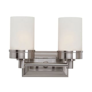 Trans Globe Lighting 70332 2 Light Bath Bar with Frosted Shade