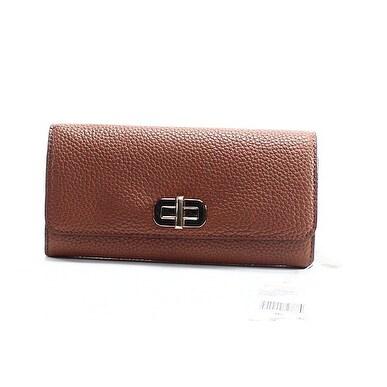 Michael Kors NEW Brown Pebble Leather Sullivan Carryall Wallet Clutch