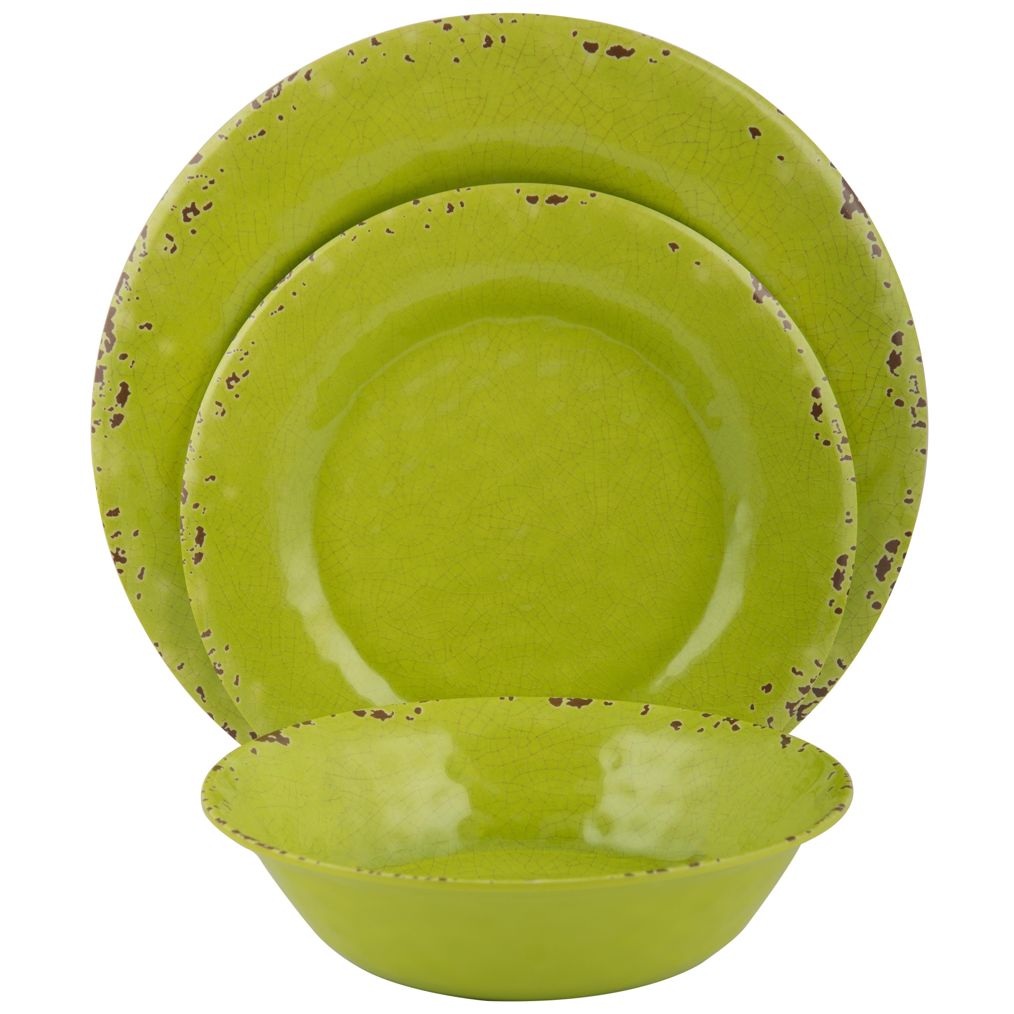 Melange 5-Piece Melamine Dinnerware Set (Rustic Collection )