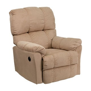 Offex Contemporary Top Hat Coffee Microfiber Power Recliner [OF-AM-P9320-4172-GG]
