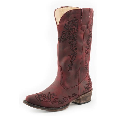 """Roper Western Boots Womens Judith 12"""" Shaft Red"""