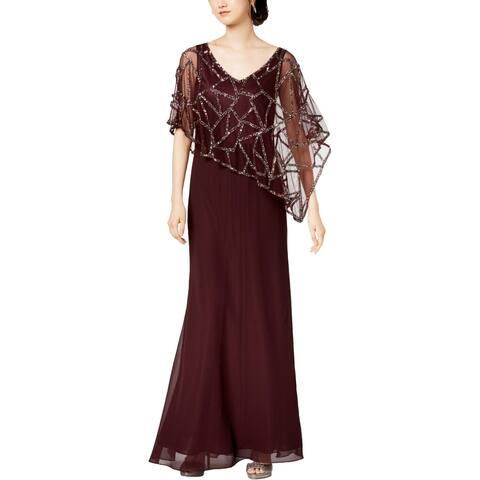 JKara Womens Evening Dress Beaded Capelet