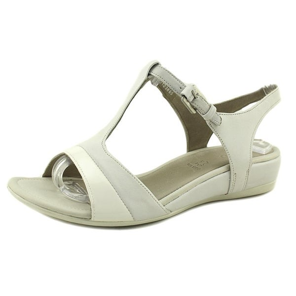 Ecco Touch 25 S Women Open-Toe Leather White Slingback Sandal