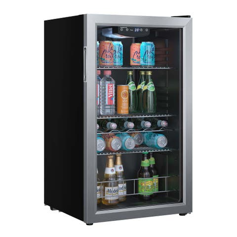 """EdgeStar BWC121 19"""" Wide 105 Can Capacity Extreme Cool Beverage Center - Stainless Steel"""