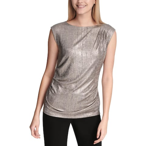 Calvin Klein Womens Shell Metallic Ruched