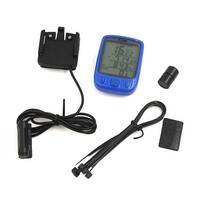 Wired LCD Backlight Bike Bicycle Computer Odometer Speedometer Blue