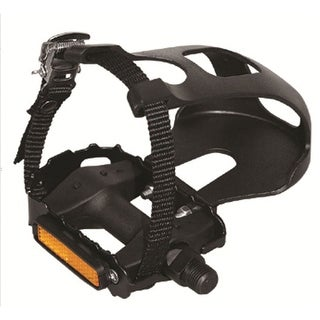 Evo E-Sport MTN LT Resin ATB/Recreational Bicycle Pedals with Toe-Clips and Straps - Pair - YH-81X