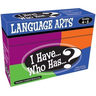 I Have Who Has Language Arts Gr 4-5