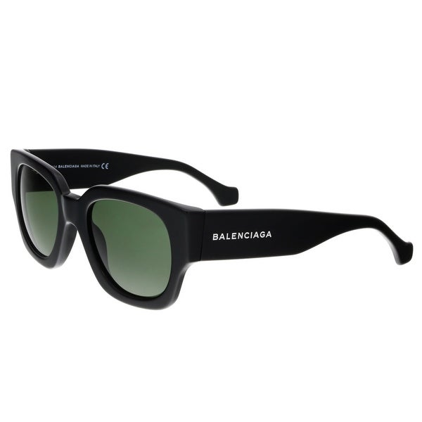 Balenciaga BA0011 01N Shiny Black Full-Rim Square Sunglasses - Shiny Black - 51-21-135