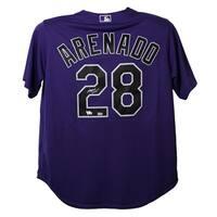 Nolan Arenado Autographed Colorado Rockies Purple XL Jersey FAN