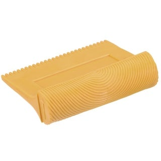 9.5cm Wood Graining Rubber Grain Tool Pattern Wall Painting DIY Yellow MS4 2Pcs - MS4 Yellow,2pcs