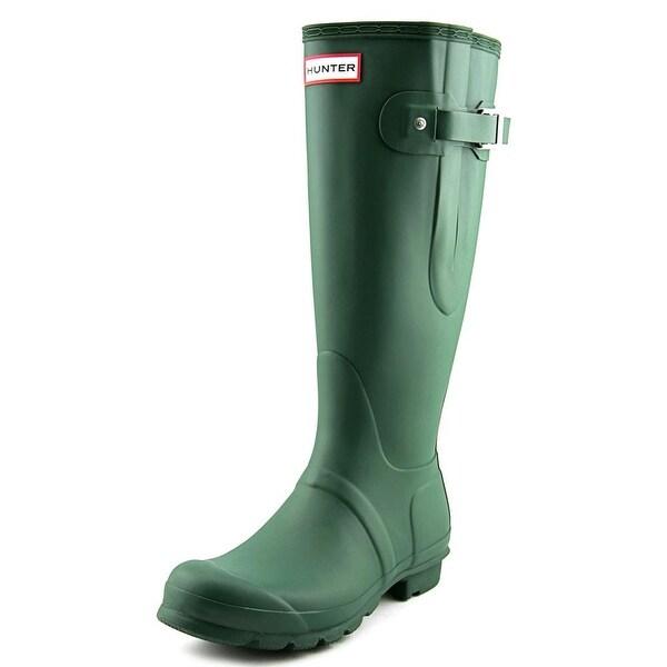 Hunter Original Adjustable   Round Toe Synthetic  Rain Boot