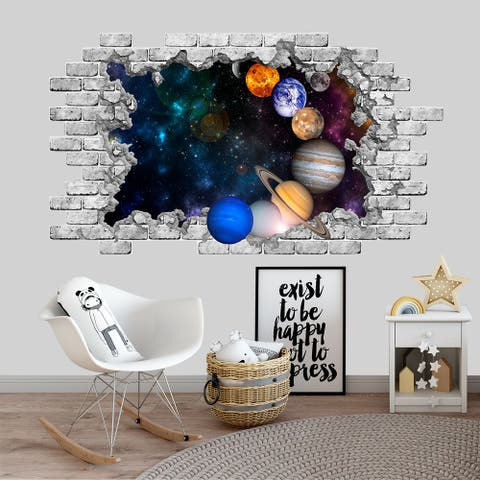 Planet Space Wall Decal Nursery