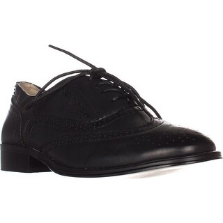 Wanted Babe Lace Up Oxfords, Black