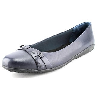 Walking Cradles Felt Round Toe Leather Flats