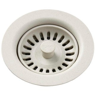"""Elkay LKQS35 3-1/2"""" Drain Fitting with Removable Basket Strainer and Rubber Stopper - N/A"""