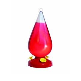 Perky-Pet 273 Dew Drop Plastic Hummingbird Feeder, 32 Oz