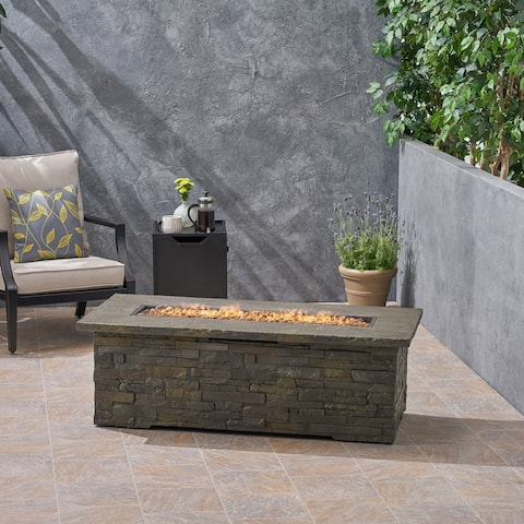 Lowan Outdoor Light Weight Rectangular Fire Pit by Christopher Knight Home