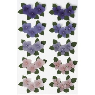 Martha Stewart Stickers-Hydrangeas