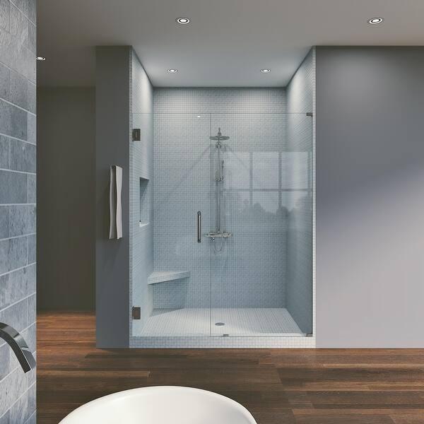 42 25 X 80 Hinged Frameless Shower Door Panel Reversible On Sale Overstock 30895027