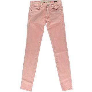 Zara TRF Womens Stretch Low-Rise Skinny Jeans