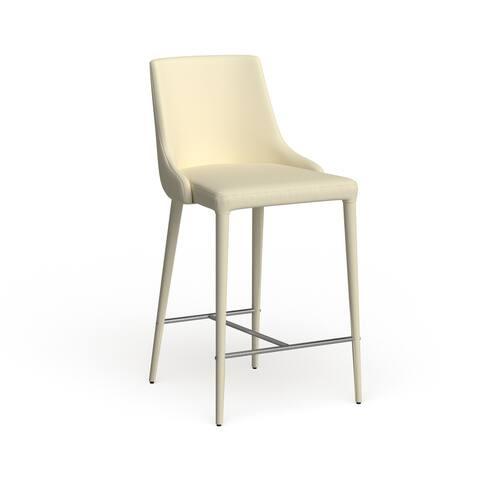"Safavieh Mid-Century Dining Summerset 26-inch Beige Linen Counter Stool (Set of 2) - 22.9"" x 18.9"" x 37.4"""