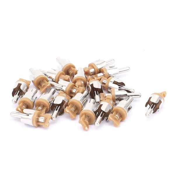 RCA Audio Video Male Plug Adapter Soldering Connector Silver Tone 20PCS