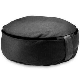 "Black 15"" Round Zafu Meditation Cushion"