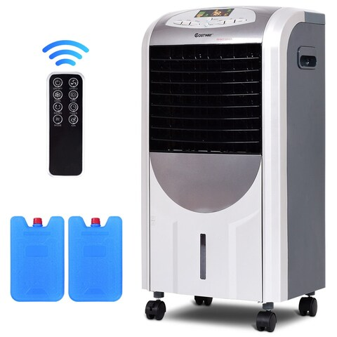 Costway Portable Air Cooler Fan & Heater Humidifier with Washable Filter Remote Control