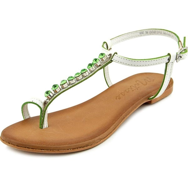 Matisse Kent Women Open Toe Leather White Thong Sandal