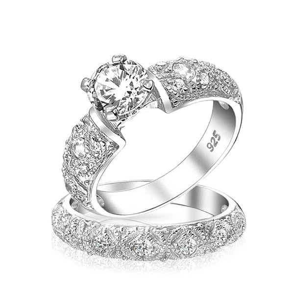 Shop Vintage Style 1 CT Round Solitaire Filigree AAA CZ