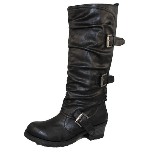 Qupid Reactor-06 Round Toe Knee High Boot