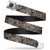 Dc Comics Bombshells Rays Full Color Black Gray Orange Red Fade 11 Dc Seatbelt Belt