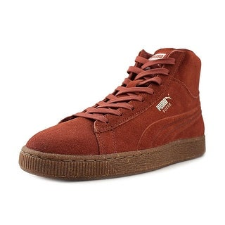PUMA Mens Emboss Mixed Suede Hight Top Lace Up Fashion Sneakers