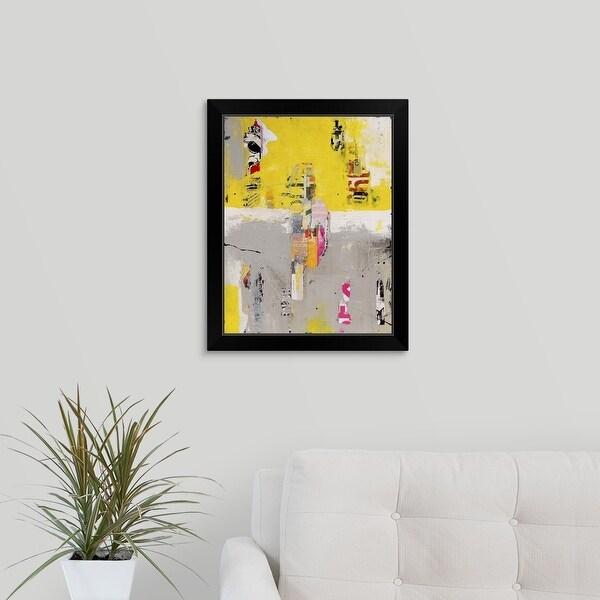 Erin Ashley Economy Framed Print with Standard Black Frame entitled Sunset Strip