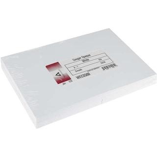 """Leader A7 Greeting Cards W/Envelopes (5.25""""X7.25"""") 50/Pkg-White - White"""