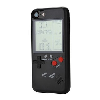Retro Real Game Console Play Gameboy Tetris Phone Case for iPhone 6 7 8color Black