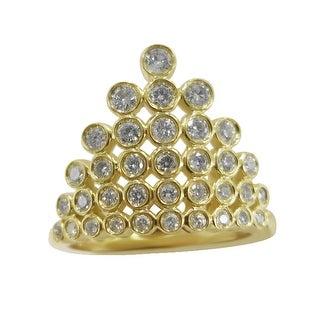 Prism Jewel 0.57Ct Round G-H/I1 Natural Diamond Princess Ring