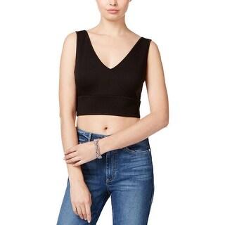 Guess Womens Avalene Crop Top Back-Zip Sleeveless