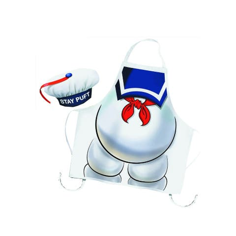 Ghostbusters Stay Puft Apron and Chef Hat - Multi