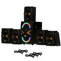 Acoustic Audio AA5210 Home 5.1 Speaker System with Bluetooth LED & 5 Ext. Cables
