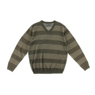 Tricots St. Raphael Mens Striped V-Neck Pullover Sweater - XL