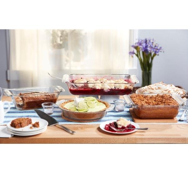 Libbey Baker's Premium 5-Piece Glass Casserole Baking Dish Set. Opens flyout.