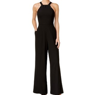 Vince Camuto NEW Black Womens Size 10 Halter Embellished Jumpsuit