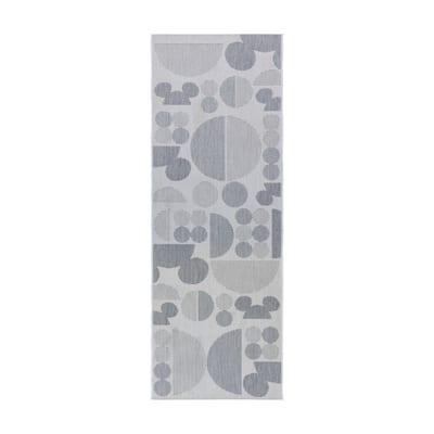 "Disney Mickey Mouse Spheres Gray Area Rug ( 2'2"" x 6') by Gertmenian"