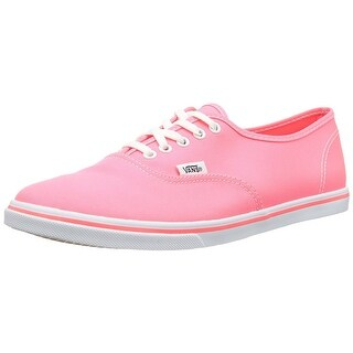 Vans Authentic Lo Pro Women Round Toe Canvas Pink Sneakers