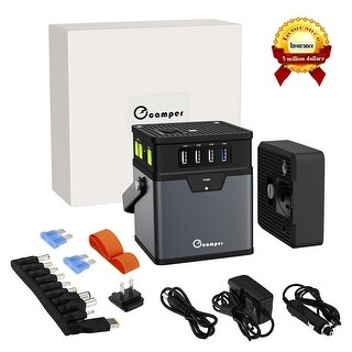 Portable 370Wh/100000mAh Energy Storage Generator Power Source Battery AC Outlet